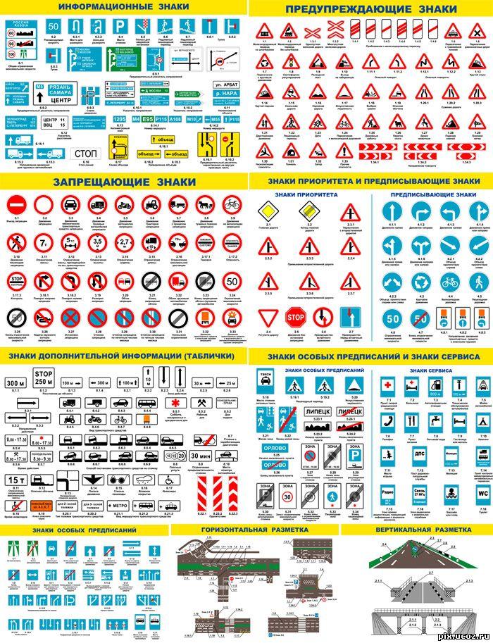 Знаки Дорожного Движения Клипарты